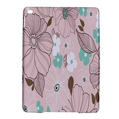 Background Texture Flowers Leaves Buds iPad Air 2 Hardshell Cases