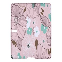 Background Texture Flowers Leaves Buds Samsung Galaxy Tab S (10.5 ) Hardshell Case