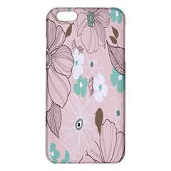 Background Texture Flowers Leaves Buds Iphone 6 Plus/6s Plus Tpu Case