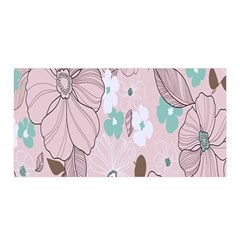 Background Texture Flowers Leaves Buds Satin Wrap