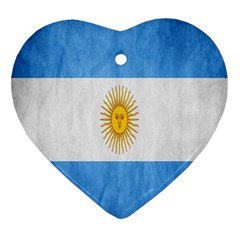 Argentina Texture Background Ornament (Heart)