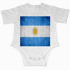 Argentina Texture Background Infant Creepers