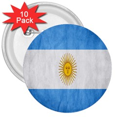 Argentina Texture Background 3  Buttons (10 Pack)