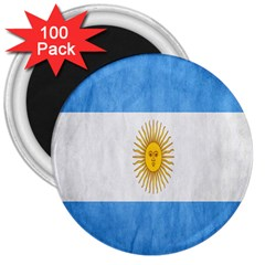 Argentina Texture Background 3  Magnets (100 pack)