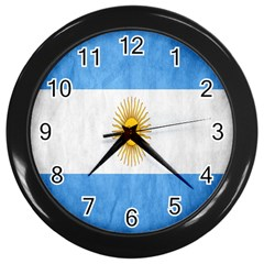 Argentina Texture Background Wall Clocks (Black)