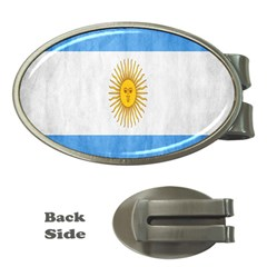Argentina Texture Background Money Clips (oval)