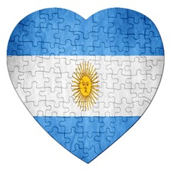 Argentina Texture Background Jigsaw Puzzle (Heart)