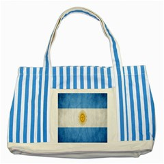 Argentina Texture Background Striped Blue Tote Bag