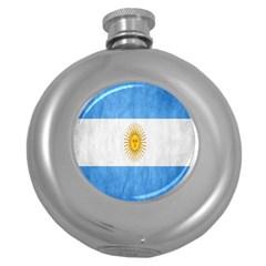 Argentina Texture Background Round Hip Flask (5 Oz)