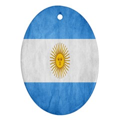 Argentina Texture Background Oval Ornament (two Sides)