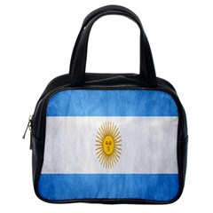 Argentina Texture Background Classic Handbags (One Side)