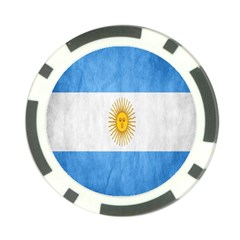 Argentina Texture Background Poker Chip Card Guard (10 pack)