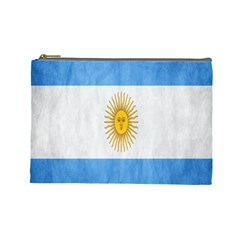 Argentina Texture Background Cosmetic Bag (large)
