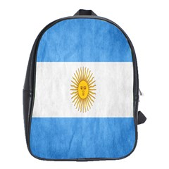 Argentina Texture Background School Bags(large)