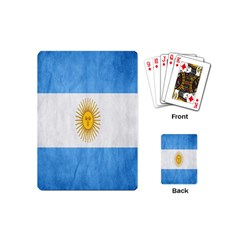 Argentina Texture Background Playing Cards (mini)