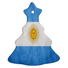 Argentina Texture Background Ornament (Christmas Tree)