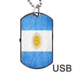 Argentina Texture Background Dog Tag USB Flash (Two Sides)