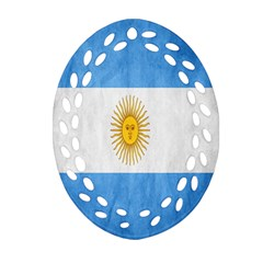 Argentina Texture Background Ornament (Oval Filigree)