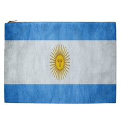 Argentina Texture Background Cosmetic Bag (XXL)