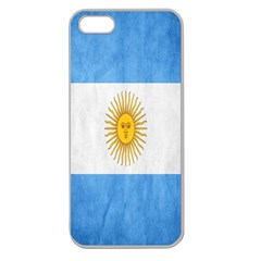 Argentina Texture Background Apple Seamless Iphone 5 Case (clear)