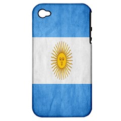Argentina Texture Background Apple iPhone 4/4S Hardshell Case (PC+Silicone)