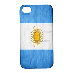 Argentina Texture Background Apple Iphone 4/4s Hardshell Case With Stand