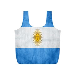 Argentina Texture Background Full Print Recycle Bags (S)