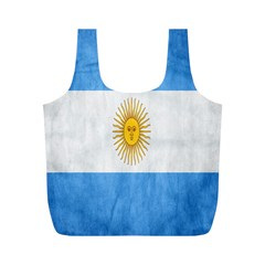 Argentina Texture Background Full Print Recycle Bags (M)
