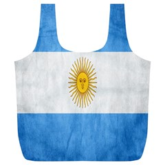 Argentina Texture Background Full Print Recycle Bags (L)