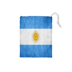 Argentina Texture Background Drawstring Pouches (Small)
