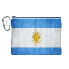 Argentina Texture Background Canvas Cosmetic Bag (L)