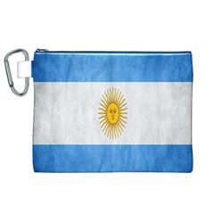 Argentina Texture Background Canvas Cosmetic Bag (xl)