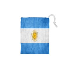 Argentina Texture Background Drawstring Pouches (xs)
