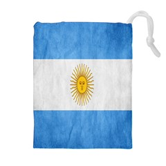 Argentina Texture Background Drawstring Pouches (extra Large)