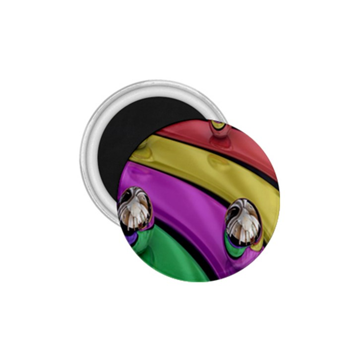 Balloons Colorful Rainbow Metal 1.75  Magnets