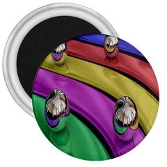 Balloons Colorful Rainbow Metal 3  Magnets