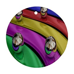 Balloons Colorful Rainbow Metal Ornament (Round)