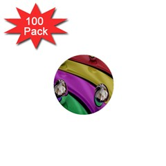 Balloons Colorful Rainbow Metal 1  Mini Buttons (100 pack)