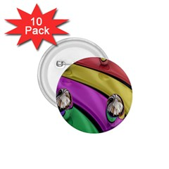 Balloons Colorful Rainbow Metal 1.75  Buttons (10 pack)