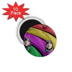 Balloons Colorful Rainbow Metal 1 75  Magnets (10 Pack)
