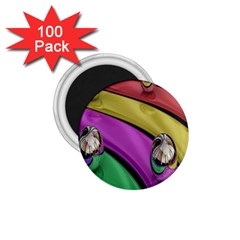 Balloons Colorful Rainbow Metal 1.75  Magnets (100 pack)