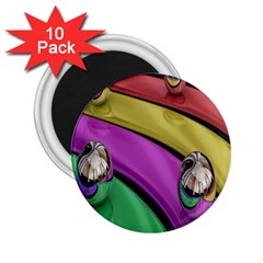 Balloons Colorful Rainbow Metal 2.25  Magnets (10 pack)