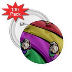 Balloons Colorful Rainbow Metal 2.25  Buttons (100 pack)