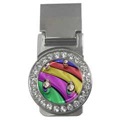 Balloons Colorful Rainbow Metal Money Clips (cz)