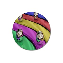 Balloons Colorful Rainbow Metal Magnet 3  (Round)