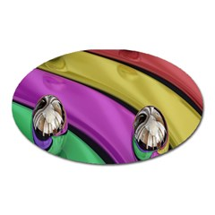 Balloons Colorful Rainbow Metal Oval Magnet