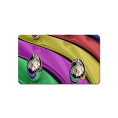 Balloons Colorful Rainbow Metal Magnet (Name Card)