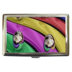 Balloons Colorful Rainbow Metal Cigarette Money Cases