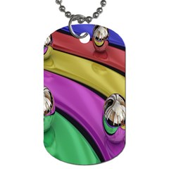 Balloons Colorful Rainbow Metal Dog Tag (Two Sides)