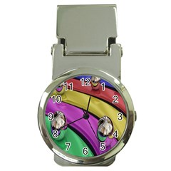 Balloons Colorful Rainbow Metal Money Clip Watches